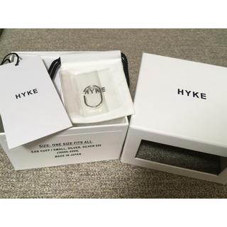 ハイク(HYKE)の新品未使用★20SS  HYKE ハイク イヤーカフ シルバー 人気完売品(イヤーカフ)