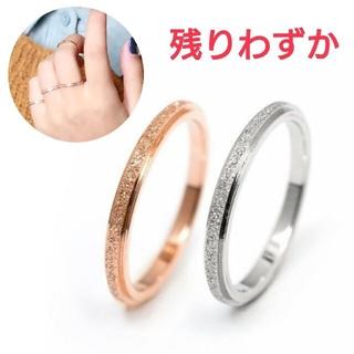 (369) チタンステンレス 関節リング ピンキーリング(リング(指輪))