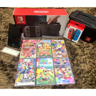 ニンテンドースイッチ(Nintendo Switch)のニンテンドースイッチ本体とどうぶつの森他のセット(家庭用ゲーム機本体)