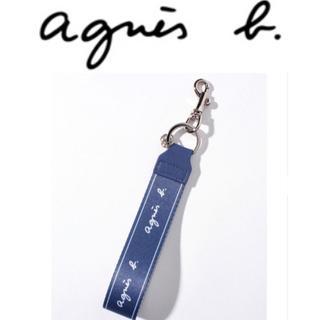 agnes b. - 【新品】アニエスベー agnes b. ロゴキーストラップ キーホルダー