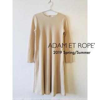 Adam et Rope' - アダムエロペ クリンプRIBクルーAラインワンピース