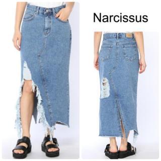 ナルシス(Narcissus)のナルシス【cheap!!by vaNite】スリットダメージデニムスカートM(ロングスカート)