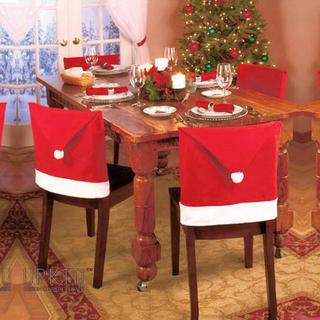 食卓やお店を少しクリスマス気分に! 椅子カバー(収納/キッチン雑貨)