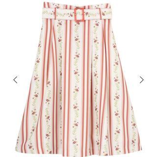 dazzlin - ラインフラワーミモレ丈スカート