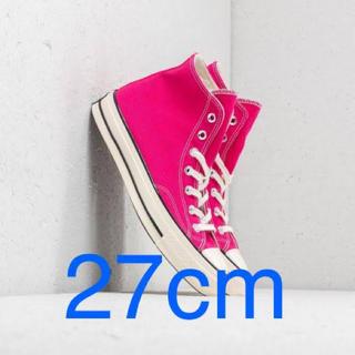 コンバース(CONVERSE)の27cm converse ct70 ピンク スエード(スニーカー)