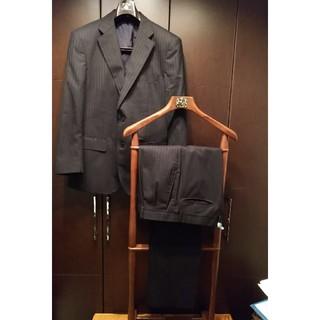 アオヤマ(青山)の再再再値下 ダークグレー スーツ ストライプ(セットアップ)