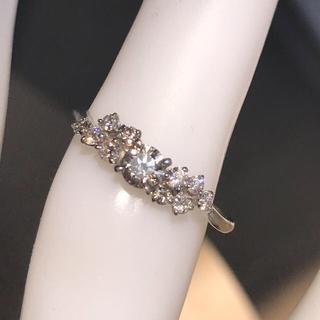 pt900 ピンクダイヤモンドリング