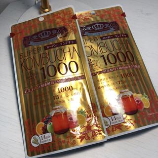 ユーワ SUPER KOMBUCHA 1000mg 56粒  2袋(ダイエット食品)