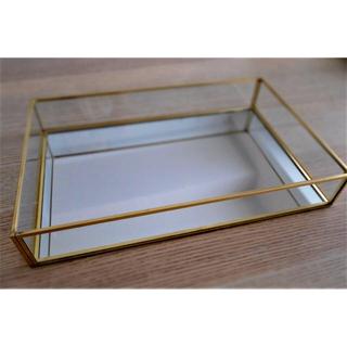 フランフラン(Francfranc)の【即発送】限定セール❗️Lサイズ 小物 化粧品 収納ボックス ガラス 鏡 ケース(ケース/ボックス)