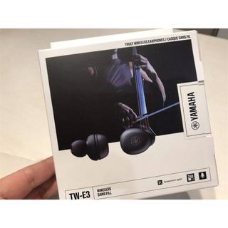 ヤマハ(ヤマハ)の新品未開封 販売店保証書付き ヤマハ TW E3A(黒)(ヘッドフォン/イヤフォン)