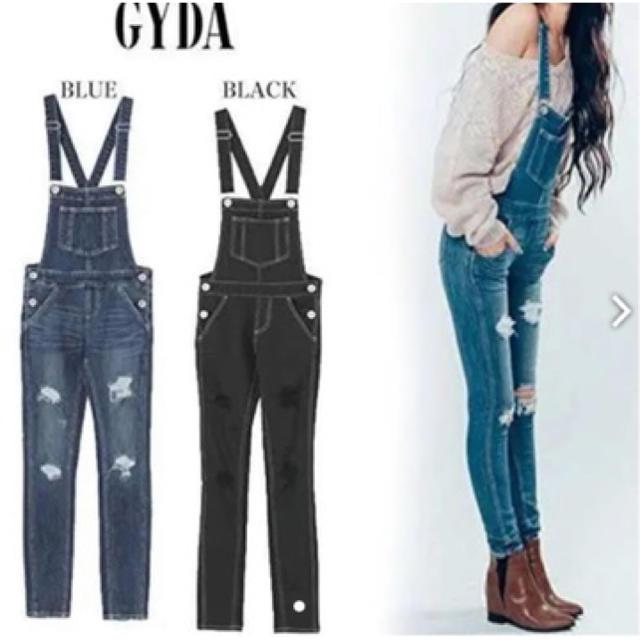 GYDA(ジェイダ)のGYDA  デニムサロペット レディースのパンツ(サロペット/オーバーオール)の商品写真