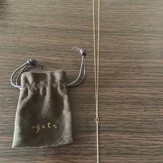 agete - agete  K10 Y字ネックレス