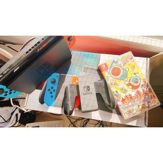 ニンテンドースイッチ(Nintendo Switch)のNintendo Switch  本体 + 太鼓達人ゲーム セット(家庭用ゲーム機本体)