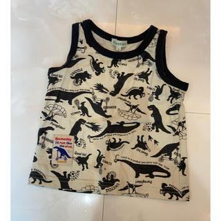 サンカンシオン(3can4on)の3can4on 恐竜 タンクトップ 美品 90(Tシャツ/カットソー)