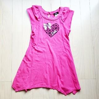 Barbie - バービー女児 フレンチ袖ワンピース130cm