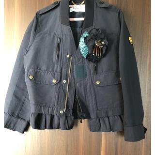 MUVEIL WORK - MUVEIL ミュベールのシンプルで可愛いネイビージャケット