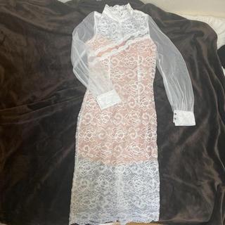 EmiriaWiz - ドレス ワンピース レース白 セクシー Mサイズ  中ベージュ
