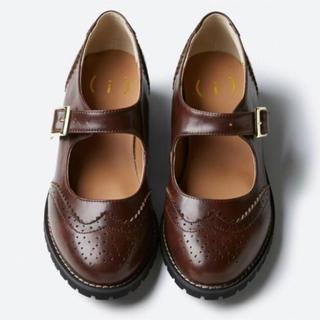 haco! - haco!/革靴/ブーツ/ストラップ付き/ローファー/ブラウン茶