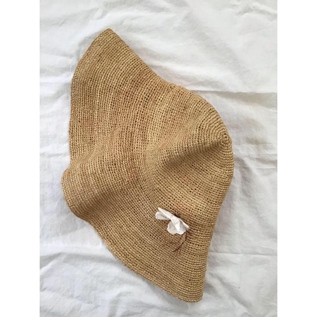 Bonpoint(ボンポワン)のボンポワン ラフィア ワイドブリムハット ナチュラル キッズ/ベビー/マタニティのこども用ファッション小物(帽子)の商品写真