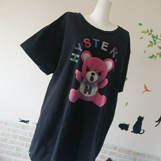HYSTERIC GLAMOUR - ヒステリックグラマー 人気 ファックベア ロゴ BIG Tシャツ ヒスベア