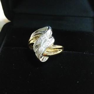 ジュエリーマキ(ジュエリーマキ)のPt850&K18 メレダイヤのリング(リング(指輪))