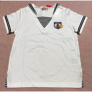 mikihouse - ★ミキハウス★セーラーカラー 半袖Tシャツ★110★新品★プッチーくん