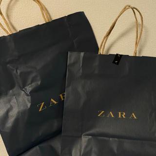 ザラ(ZARA)のzara 旧デザイン 紙袋2枚(ショップ袋)