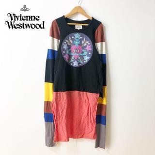ヴィヴィアンウエストウッド(Vivienne Westwood)の【Vivienne Westwood】異素材ドッキング マルチカラーワンピース(ロングワンピース/マキシワンピース)