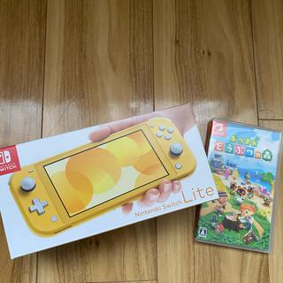 ニンテンドースイッチ(Nintendo Switch)の⭐︎Nintendo Switch Lite イエロー⭐︎3年保証付き(家庭用ゲーム機本体)