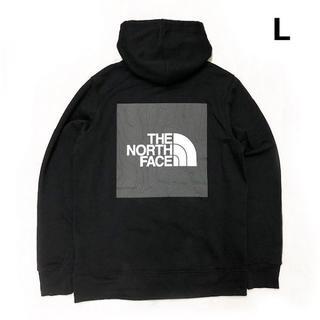 THE NORTH FACE - ノースフェイス ボックスロゴ グラフィック パーカー(L)黒181130