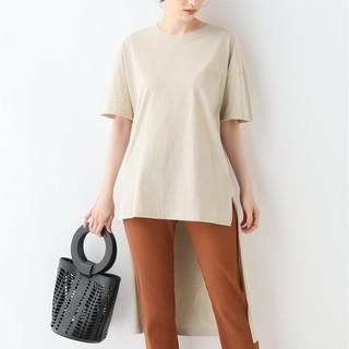 フレームワーク(FRAMeWORK)のフレームワーク アシンメトリTシャツ アシンメトリカットソー(Tシャツ(半袖/袖なし))