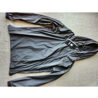DESCENTE - 新品デサントナイロンプルオーバージャケット アノラック ブラック斜めジップ