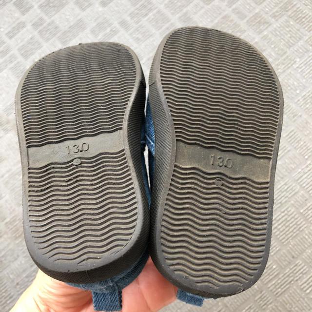 しまむら(シマムラ)のミッキー スリッポン スニーカー 13cm しまむら キッズ/ベビー/マタニティのベビー靴/シューズ(~14cm)(スニーカー)の商品写真