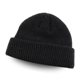 ニット 帽子 ブラック 黒 ワッチキャップ メンズ レディース ビーニー 浅め(ニット帽/ビーニー)