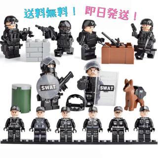 【送料無料】ミニフィグ SWAT 特殊部隊 6体 大量武器セット