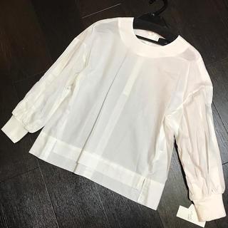 SCOT CLUB - 新品スコットクラブ系列 デザインシャツブラウス白