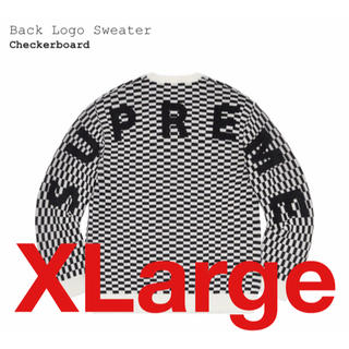 Supreme - 【XL】Supreme Back Logo Sweater Checker