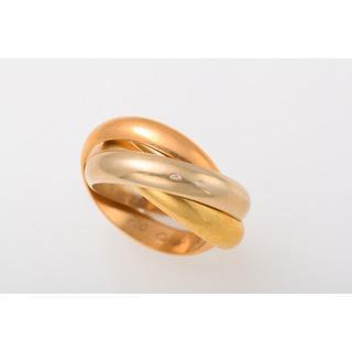 カルティエ(Cartier)のCartier 750スリーカラー トリニティリング 品番B8-45(リング(指輪))