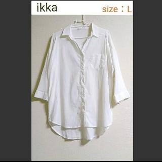 ikka - 【美品】ikka 七分袖シャツ レーヨン