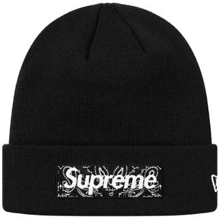 シュプリーム(Supreme)のSUPREME Bandana Box Logo Beanie Black(ニット帽/ビーニー)