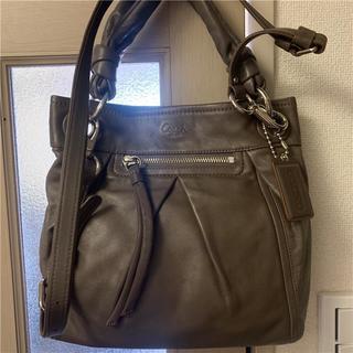 COACH - 未使用に近い coach 約5.5万 2wayフルグレインレザーバッグ