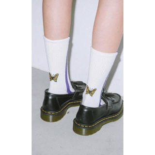 X-girl - X-girl  BUTTERFLY LINE RIB SOCKS