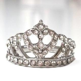 新品☆【18号】王冠クラウンリング/指輪/色シルバー(リング(指輪))