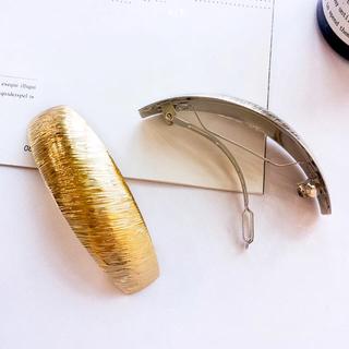 Ameri VINTAGE - metal barrette gold