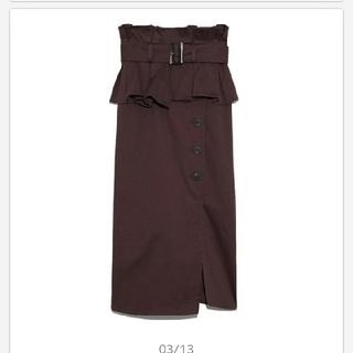 snidel - タグ付スナイデルsnidelポンチタイトスカート0BUR