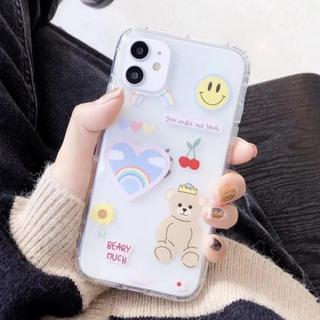 Iphone11pro ケース クマ くま クリアケース
