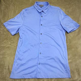 コス(COS)のCOS 半袖コットンシャツ サックスブルー(シャツ/ブラウス(半袖/袖なし))