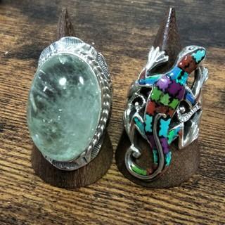 五郎様♡グリーンアメジスト インレイトカゲ silver925リング(リング(指輪))