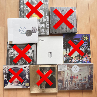 EXO エクソ シングル アルバム 6枚セット売り(K-POP/アジア)