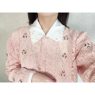 Lochie - new  vintage お花 刺繍カーディガン